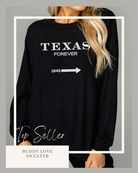 Best selling sweatshirt from Buddy Love | fall style | fall outfits | fall lounge wear    #LTKHoliday #LTKGiftGuide #LTKunder100