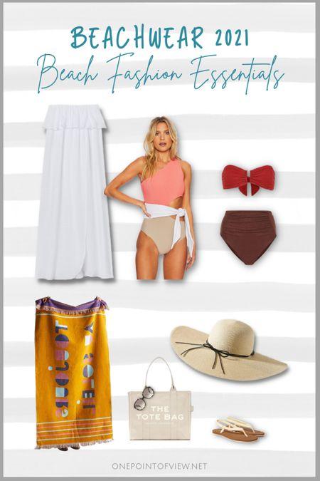 Summer capsule wardrobe - beachwear 2021 - cover up, summer dresses, swimsuits, monokini, tankini, one shoulder bathing suit, high waisted bikini, beach bag, beach towel  http://liketk.it/3hOda #liketkit @liketoknow.it #LTKstyletip #LTKunder50 #LTKitbag