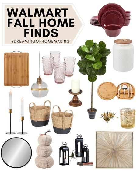 Walmart fall home finds  Dreaming of Homemaking | #DreamingofHomemaking   #LTKhome #LTKunder50 #LTKunder100