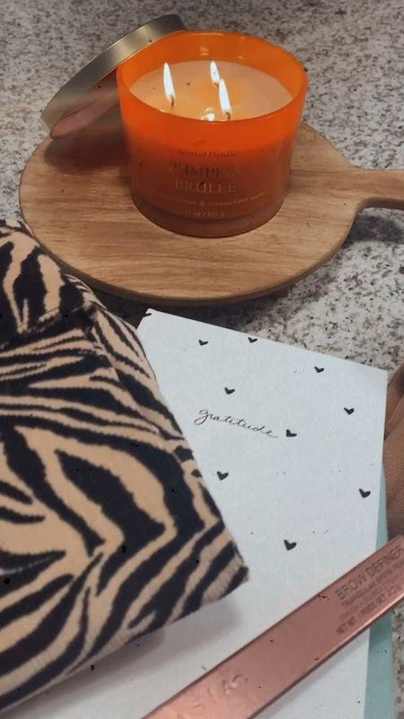 Target purchases / pumpkin brûlée candle / sweat pant set / zebra skirt   #LTKSeasonal #LTKunder100 #LTKunder50