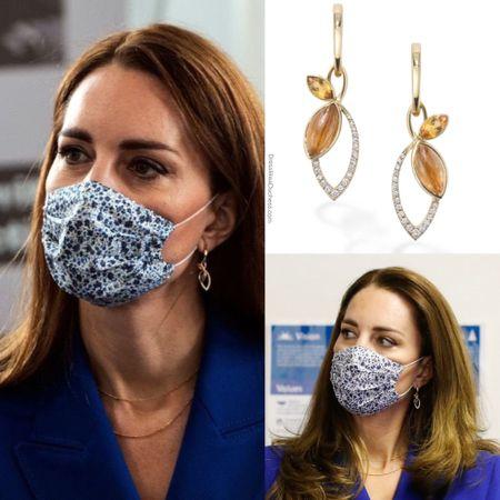 Kate wearing Hamilton & Inches floral earrings ($1975) http://liketk.it/3g0Ik #liketkit @liketoknow.it #accessories #bling #jewelry