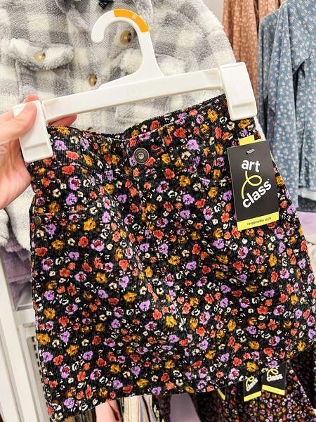 Girls floral corduroy skirt   #LTKunder50 #LTKSeasonal #LTKkids
