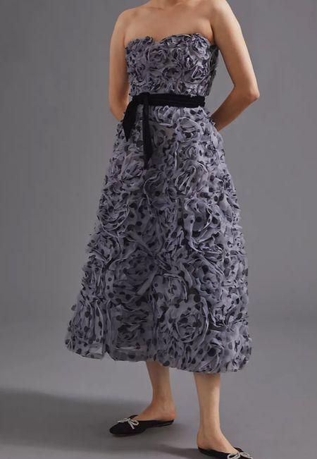 Tulle rosette midi dress   #LTKHoliday #LTKSeasonal #LTKwedding