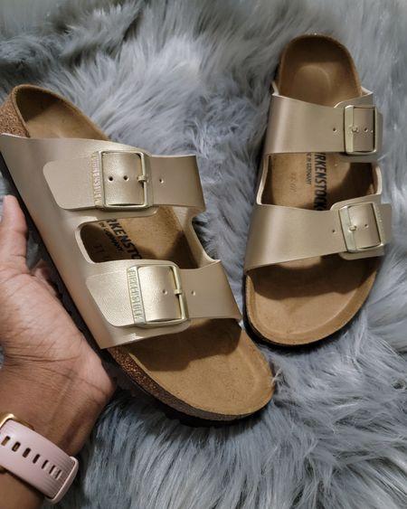 Obsessed with my new birkenstocks. Cute and versatile sandals. So comfy. Love the gold color. #summersandal#birkenstock #goldsandals http://liketk.it/3h9tj #LTKDay #LTKsalealert #LTKunder50 #LTKstyletip #LTKfamily #LTKshoecrush #LTKfit #LTKunder100 #LTKworkwear #LTKkids #LTKtravel @liketoknow.it #liketkit #LTKswim