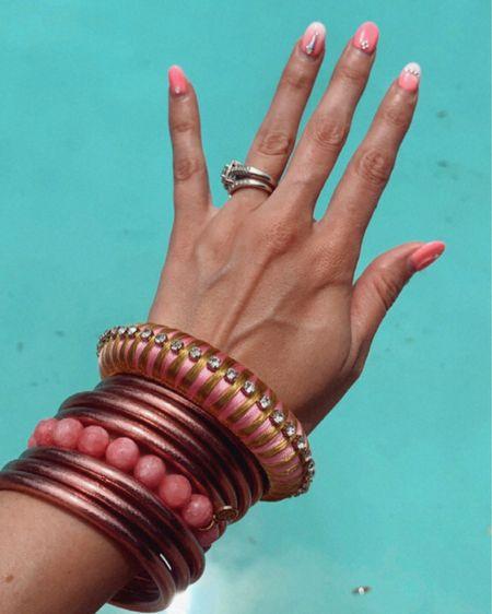 Pink bracelet Stack from budha girrrrl is 20% off for the next week! No code needed! http://liketk.it/3jodO #liketkit @liketoknow.it  Summer accessories, bracelet stack, arm candy #LTKsalealert #LTKunder100 #LTKswim