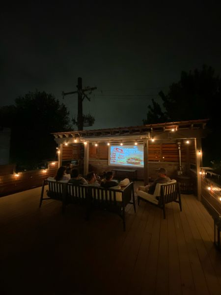 Outdoor projector and screen for outdoor movie nights this fall!   #LTKSeasonal #LTKhome