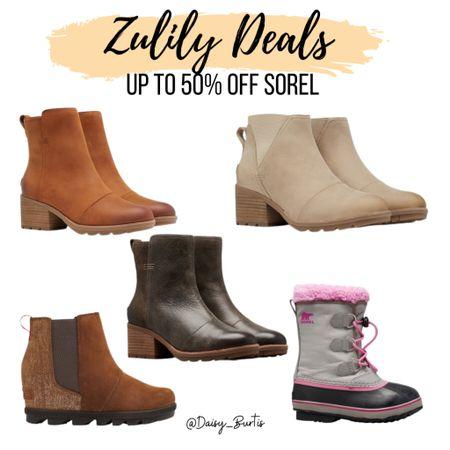Sorel on Zulily!!!!! Up to 50% off!  SO many beautiful, on trend boots!!!    #LTKHoliday #LTKSeasonal #LTKshoecrush