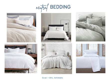 Love these neutral bedding options for a crisp, clean bedroom style.  Bedding, duvet covers, bedroom updates, master bedroom, white bedding  #LTKhome