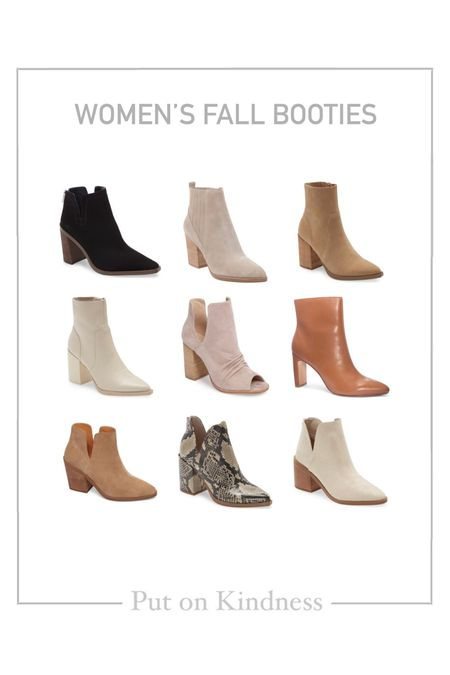 Women's fall neutral booties. Suede black booties. Animal print. Block heel. Under $100.