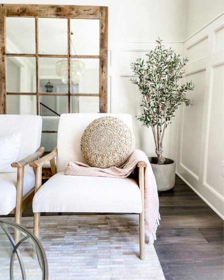 Love this accent chair and crochet round pillow💕 This faux olive tree is so pretty in any space too! ✨ http://liketk.it/3egSa #liketkit @liketoknow.it #LTKhome #LTKsalealert #LTKstyletip @liketoknow.it.family @liketoknow.it.home @liketoknow.it.europe @liketoknow.it.brasil Download the LIKEtoKNOW.it shopping app to shop this pic via screenshot