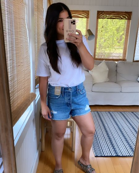 If you carry weight in your waist and have a thinner leg these are the shorts for you. If you're the opposite like me, these shorts do not work! http://liketk.it/3g9AT #liketkit @liketoknow.it #LTKunder100 #LTKstyletip #LTKsalealert