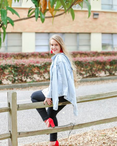 THE IT JACKET FOR SPRING! A classic denim jacket to wear with everything for under $19! You'll be able to keep this midweight piece as a closet staple for years to come because jean jackets always come back in style!   📷@Katie_BeePhoto  This beauty looks great with skirts, dresses, jeans, jumpsuits, EVERYTHING! Use code SUNDAY7 to get this jacket for the sale price! P.S. Also comes in a cropped style!   What's your favorite way to style a denim jacket?  You can instantly shop this look by following me on the LIKEtoKNOW.it app or by going to CentsibleBlonde.com! LINK IN BIO   http://liketk.it/2AGj9 #liketkit @liketoknow.it #LTKunder50 #LTKshoecrush #LTKsalealert #LTKstyletip #LTKunder100