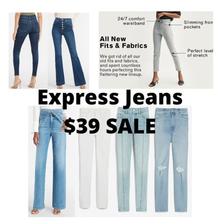 Sale Alert! 🚨 Express denim/jeans for both men and women are all starting at $39! Who's stocking up?? 🙋🏼♀️  #LTKfamily #LTKsalealert #LTKunder50