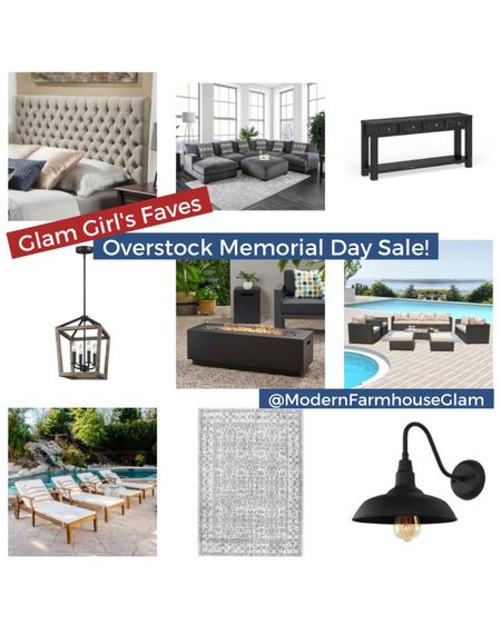 My favorite home decor, lighting, and furniture picks in the overstock memorial day blowout sale!  Patio furniture, lantern Lighting, Farmhouse lighting, gooseneck light, outdoor sectional, media Consol table, tufted headboard, master bedroom furniture, summer, ModernFarmhouseGlam   http://liketk.it/3geGc #liketkit @liketoknow.it #LTKsalealert #LTKDay #LTKhome @liketoknow.it.home You can instantly shop all of my looks by following me on the LIKEtoKNOW.it shopping app