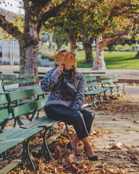 One more fall photo before we move on to holiday thingzzz 😆 I had to share with you guys some cheetah print sweaters I've found and they're on major sale! Shop the look on my @liketoknow.it #liketkit #LTKsalealert http://liketk.it/32W40