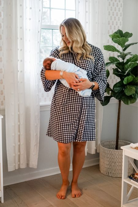 Newborn baby essentials swaddle footie Jammies with mitten covers soft robe   #LTKbaby #LTKfamily #LTKbump