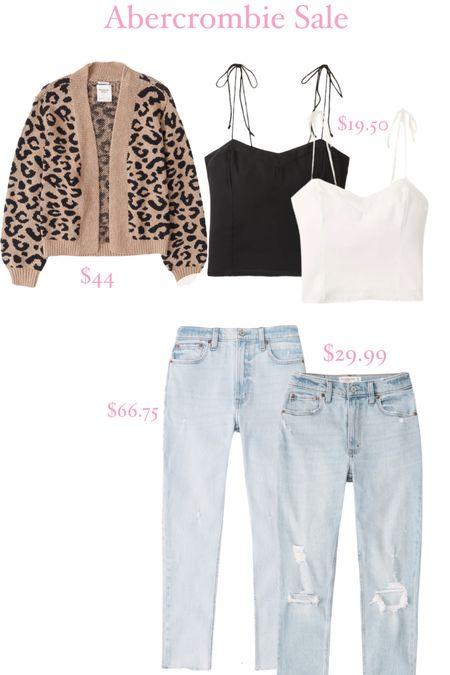 Abercrombie sale, leopard cardigan, skinny jeans  #LTKunder100 #LTKunder50 #LTKsalealert