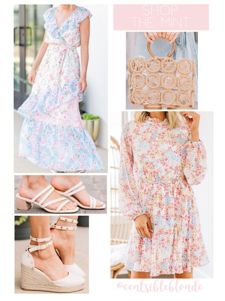 Spring dresses, shop the mint, the mint julep boutique, floral dresses.    http://liketk.it/3hypt @liketoknow.it #liketkit #LTKsalealert #LTKunder50 #LTKshoecrush