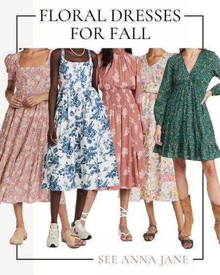 Floral Dresses For Fall 🍂  #falldress #fallfashion #floraldress #floral #fallstyle #mididress #shopbop #fallclothing #falloutfits #falloutfitideas #fallclothing  #LTKSeasonal #LTKstyletip