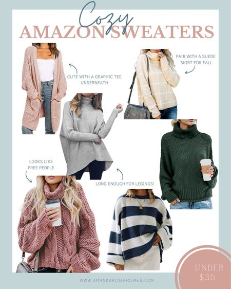 Sharing some of my recent amazon fashion finds! Talk about all the cozy amazon sweaters!!  #LTKunder50 #LTKsalealert #LTKFall