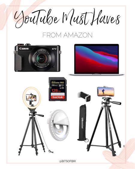 YouTube must haves. Amazon day. Prime day. Amazon deals. Technology. Laptop. Camera. Filming equipment. http://liketk.it/3i8eC #liketkit @liketoknow.it #LTKsalealert #LTKunder100