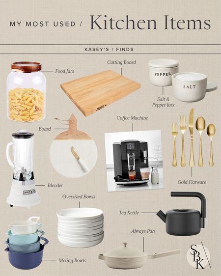 H O M E \ my most used kitchen items👩🏻🍳  #kitchen #kitchendecor #cooking   #LTKunder100 #LTKhome