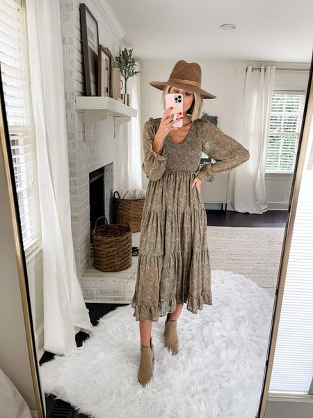 This floral maxi dress is perfect for fall family photos! Runs TTS. Loverly Grey is wearing the small. Would work great for a maternity option too!   Code: loverly20 for 20% off!   #LTKwedding #LTKSeasonal #LTKunder100
