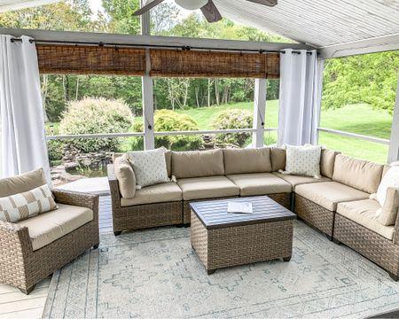 Outdoor living, outdoor furniture, patio furniture, outdoor rugs, outdoor pillows, outdoor curtains, curtain rod, studio McGee, target style, target home, Amazon prime, home decor #liketkit http://liketk.it/3f1fn  @liketoknow.it #LTKhome #LTKsalealert #LTKunder50 #ltkfamily