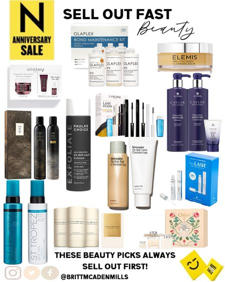 Beauty, skincare and fragrances that will sell out! From Chloe perfume, St Tropez tanning lotion, Orbie dry shampoo, olaplex haircare kit, and more! Grab these first before they sell out! #nordstrom #nsale #nordstromsale   #LTKunder100 #LTKunder50 #LTKbeauty