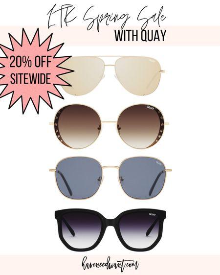 Quay sunglasses 🕶 currently 20% off site wide for the exclusive LTK spring sale!   #LTKstyletip #LTKunder100 #LTKSpringSale