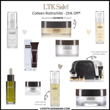 Colleen Rothschilds LTK DAY SALE!!! All my favorites from just this one brand. #colleenrothschild is an amazing brand with amazing products. Here are just a few. Definitely take advantage of this sale. http://liketk.it/3hiFb #liketkit @liketoknow.it #LTKDay #LTKunder100 #LTKsalealert #skincare