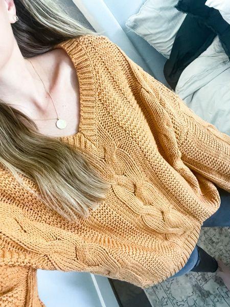 Amazon chunky knit sweater on sale! Size small  #LTKstyletip #LTKsalealert #LTKSeasonal