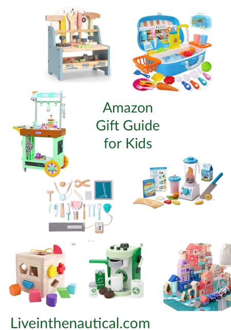 More Gift Guides!  Amazon has an awesome selection of wooden toys and play food. Here are some of my favorites sure to be a hut with littles!  #LTKHoliday #LTKGiftGuide #LTKkids