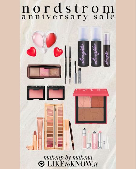 Save on these makeup products – including Hourglass, Charlotte Tilbury, Dior and Nars –during the Nordstrom Anniversary Sale now through August 8. #nsale  #LTKsalealert #LTKunder100 #LTKbeauty
