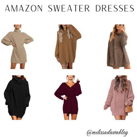 Sweater dress, Amazon sweater dress, Amazon fashion #amazonfashion #amazonfashionfinds #sweaterdress   #LTKunder50 #LTKsalealert #LTKstyletip