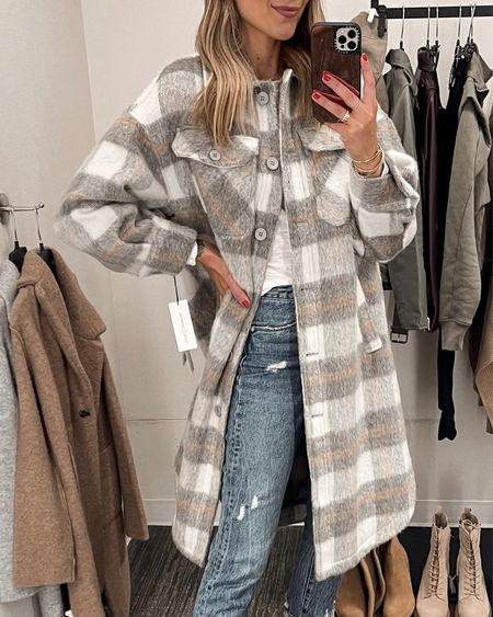 This is an oversized shacket style jacket. It fits very oversized! I'm wearing an XS. It's super comfortable and a great layering piece for fall/winter. #liketkit #nsale #fallfashion #nordstromanniversarysale #nordstrom #nordstromsale  #LTKsalealert #LTKstyletip #LTKunder100