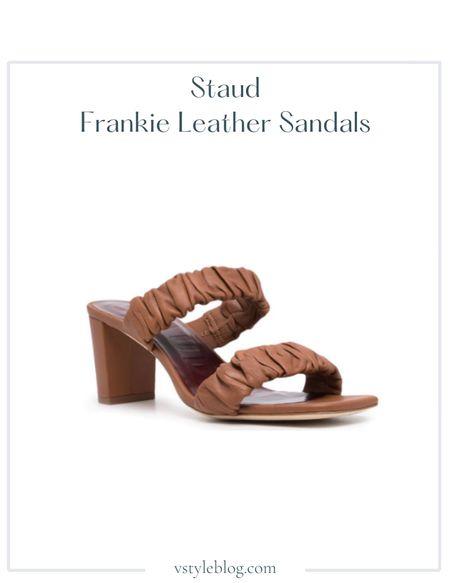 Sandals, Summer outfits  Staud Frankie Leather Sandals  @ Moda Operandi ($325) @ Intermix ($325) @ 24S ($325)  #LTKshoecrush #LTKSeasonal #LTKfit