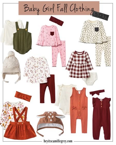 Baby Girl Fall Clothing - I am so excited for her to get here! I am loving the fall colors and how these pieces will work great for the holidays as well. Everything is so soft and I can't wait to see her in it   #LTKbaby #LTKbump #LTKunder50