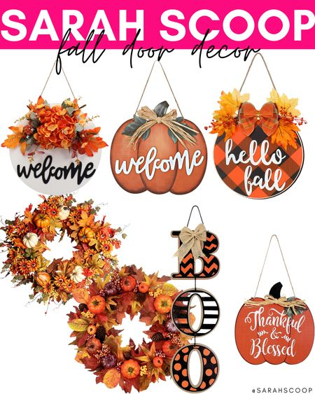 Fall is here! Get your outdoor decorations ready with these seasonal door decor 🍂  . . . . #fall #decor #decoration #amazon #falldecor #outside #home #seasonal #holiday #LTKseasonal #LTKsale  #LTKSeasonal #LTKhome #LTKHoliday
