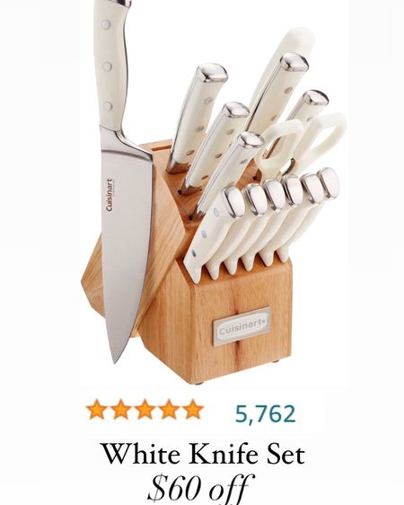 Amazon prime day White knife set  http://liketk.it/3i6k1 #liketkit @liketoknow.it  Amazon kitchen finds Amazon finds Prime deals