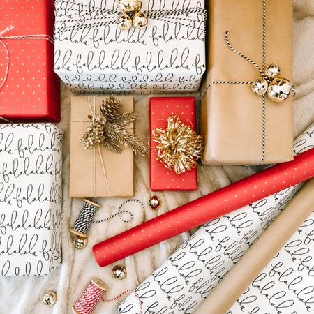 Christmas wrapping inspo http://liketk.it/31i70 #liketkit @liketoknow.it #LTKgiftspo #LTKhome #LTKunder50 #ltkholiday #holiday #wrappingpaper