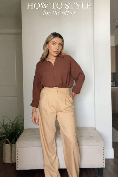 How To Style: For The Office Edition  - A classic work outfit includes a button up blouse and trousers.  - These two pieces are definitely essential pieces you can mix and match with other closet staples in order to create many outfits!