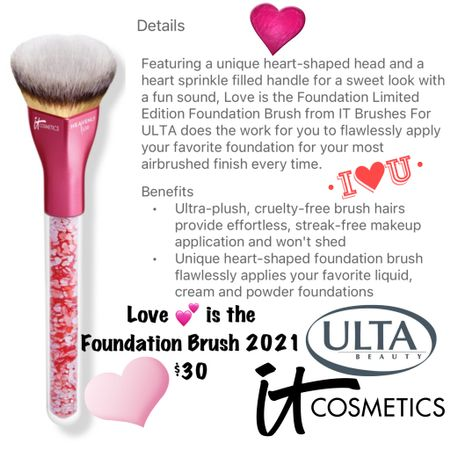The NEW IT Cosmetics for Ulta Beauty Love 💕 is the Foundation Brush!  #steffsbeautystash  #LTKunder50 #LTKbeauty #LTKSale