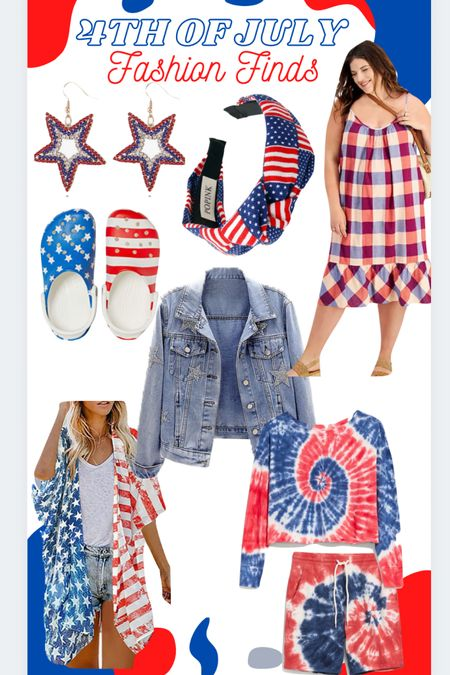 4th of July Fashion Finds! Red white & blue and stars & stripes! #patriotic #america #ltkholiday #LTKunder50 #LTKstyletip #LTKfamily http://liketk.it/3iAwp #liketkit @liketoknow.it