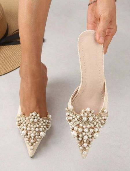 Pearl heels! $26! These are perfect for the holidays!   #LTKHoliday #LTKSeasonal