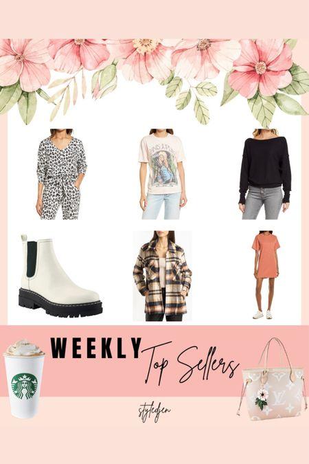 Top sellers - daydreamer tees, shacket, Chelsea boots, dress     #LTKunder50 #LTKsalealert #LTKunder100