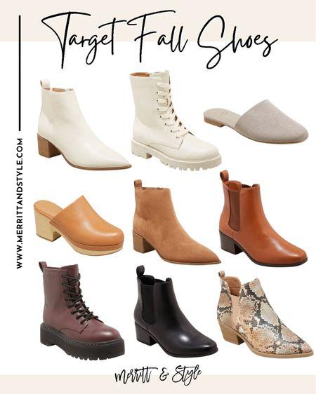 Target fall shoes fall boots   #LTKsalealert #LTKshoecrush #LTKstyletip