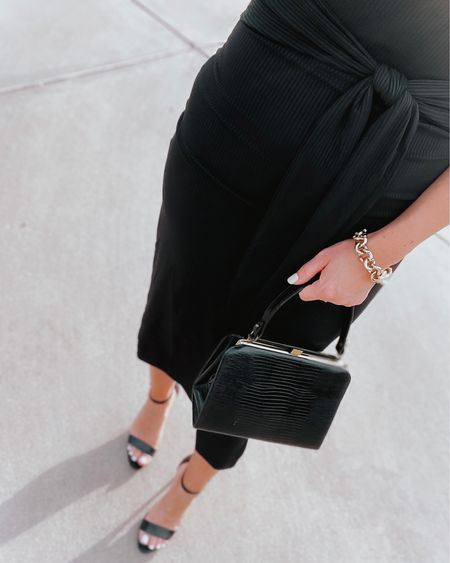 This dress was such a good find! It fits like a glove but has stretch. Love the belt detail at the waist. Classic & chic to dress up or down! I'm wearing a S. #LTKunder50 #dresses #blackdress #lbd #amazonfashion #founditonamazon #amazonfinds #ninewest #heels #shoes #minimalstyle #handbag #classic #chic #liketkit @liketoknow.it http://liketk.it/3gQCc