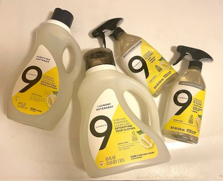 Clean cleaning products - 9 elements bathroom cleaner, laundry detergent and multipurpose cleaner   #LTKunder50 #LTKhome