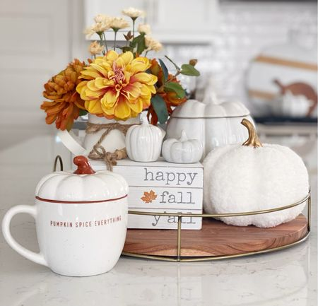 Give me all the pumpkins! Love this little set up. Found a pumpkin mug for only $4 with free shipping!   #LTKSeasonal #LTKhome #LTKHoliday